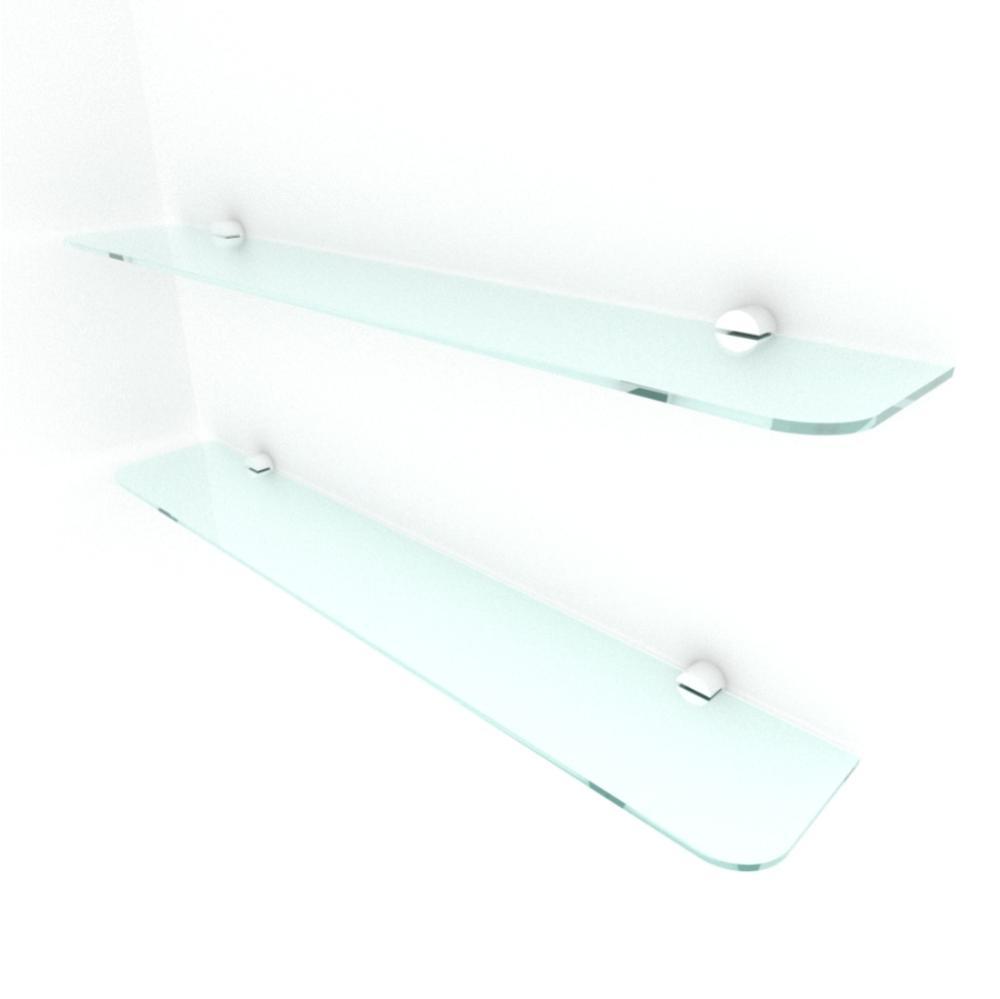 kit com 2 Prateleira de vidro temperado para sala 60(C)x8(P)cm
