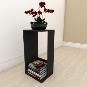 Estante para livros simples em mdf Preto