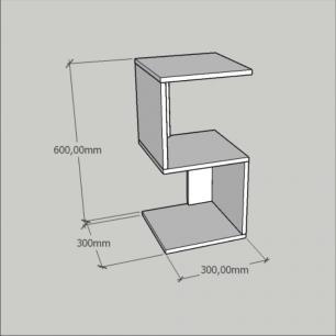 Mini estante para escritório moderna em mdf Cinza