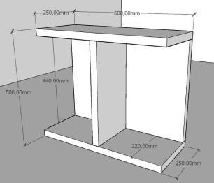Mini estante para escritório moderna Cinza