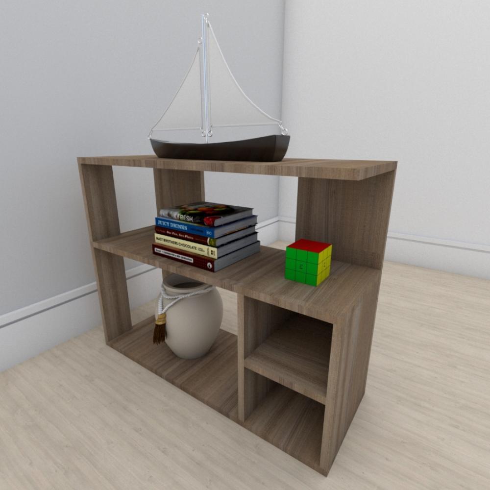 Estante para livros formato slim em mdf Amadeirado