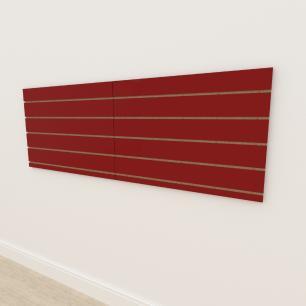 Painel canaletado 18mm Vermelho Escuro Tx altura 60 cm comp 180 cm