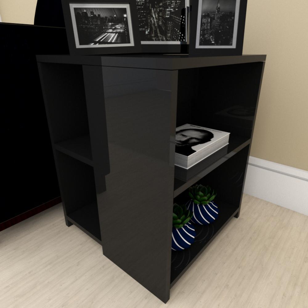 kit com 2 Mesa de cabeceira para sofá moderna preto