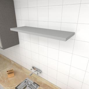 Prateleira para cozinha MDF suporte Inivisivel cor cinza 90(C)x30(P)cm modelo pratcc19