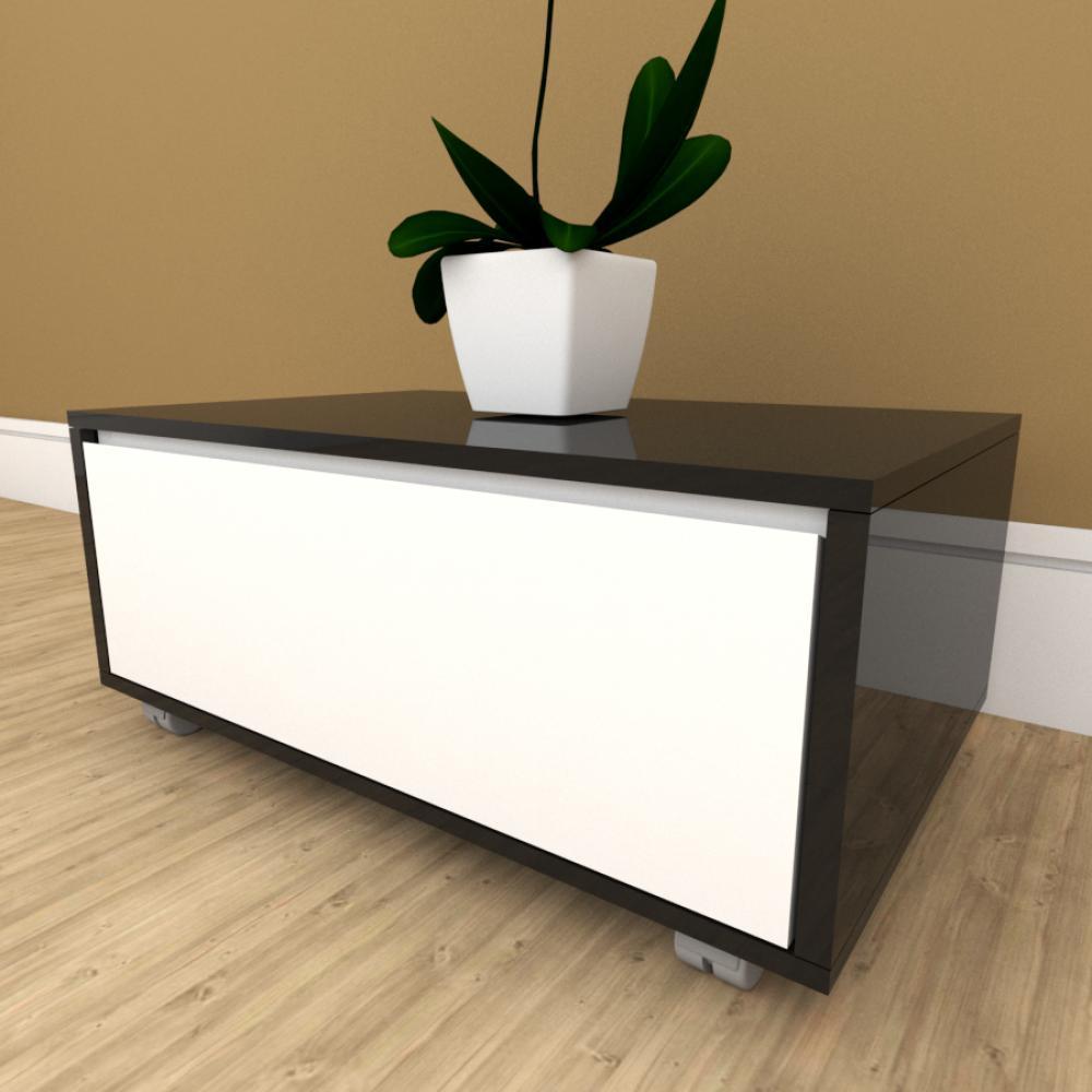 Mesa de cabeceira branco com preto