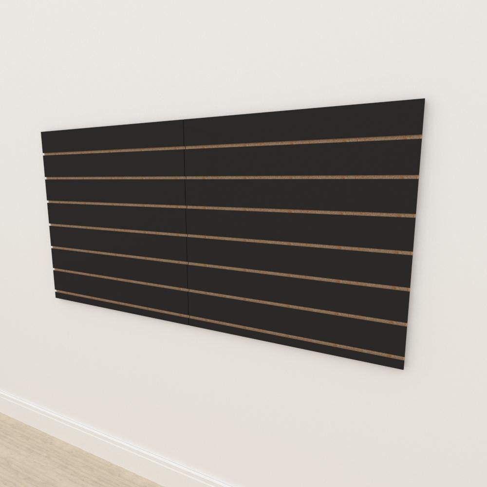 Painel canaletado 18mm Preto Texturizado altura 90 cm comp 180 cm