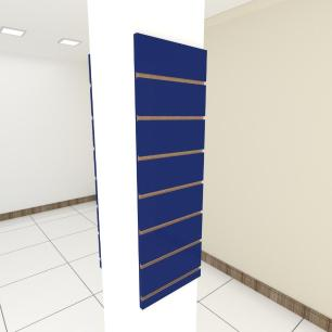 Kit 2 Painel canaletado para pilar azul escuro 2 peças 30(L)x90(A) cm