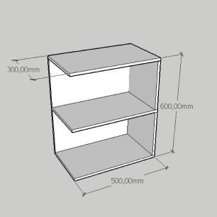 Kit com 2 Mesa de cabeceira compacta em mdf amadeirado