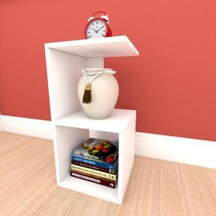 Estante para livros formato S simples em mdf Branco