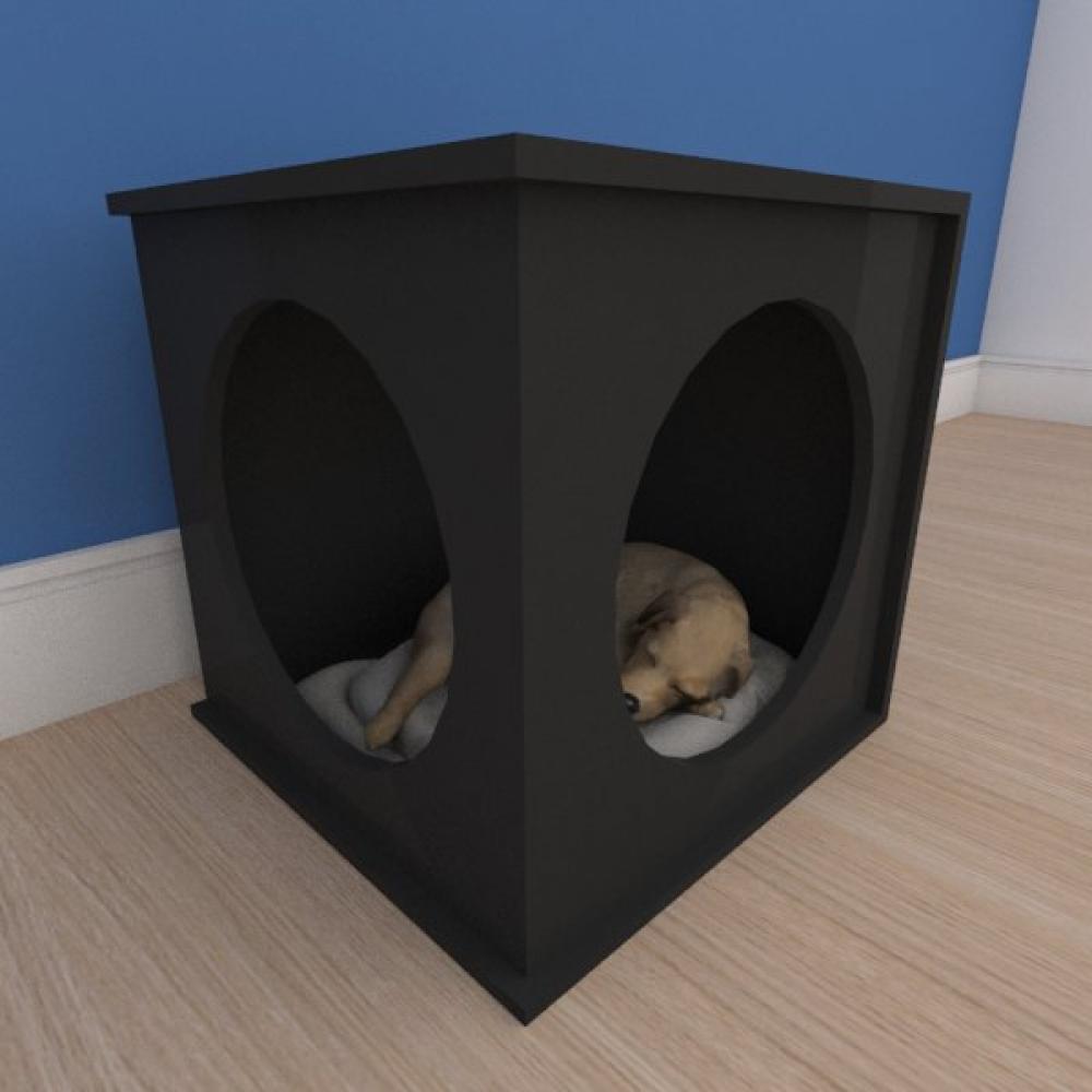 Caminha bercinho pequeno cachorro em mdf preto