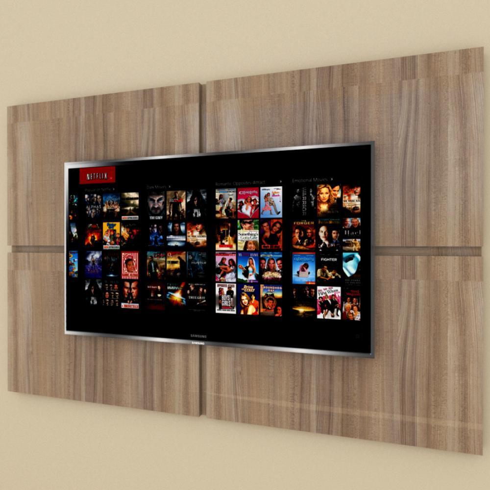 Painel Tv pequeno moderno amadeirado escuro