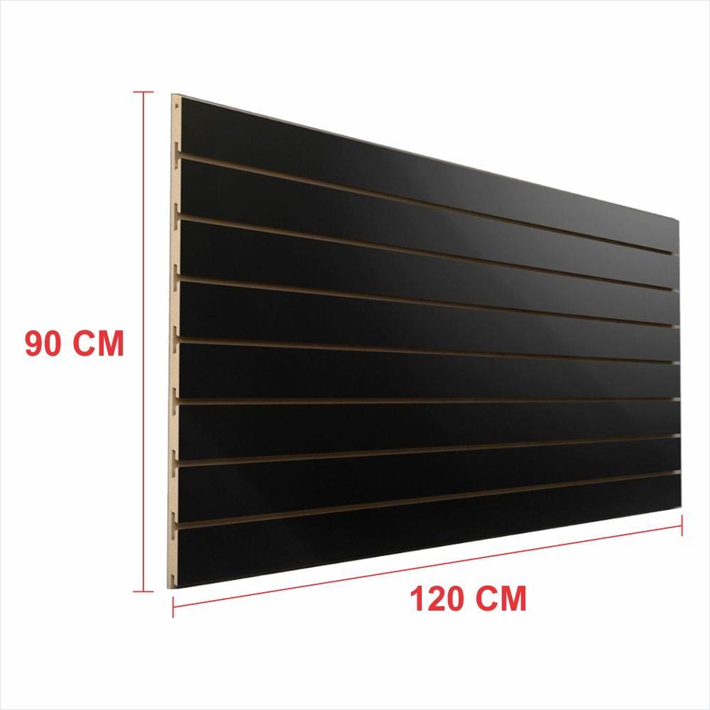 Painel canaletado 18mm preto altura 90 cm comp 120 cm