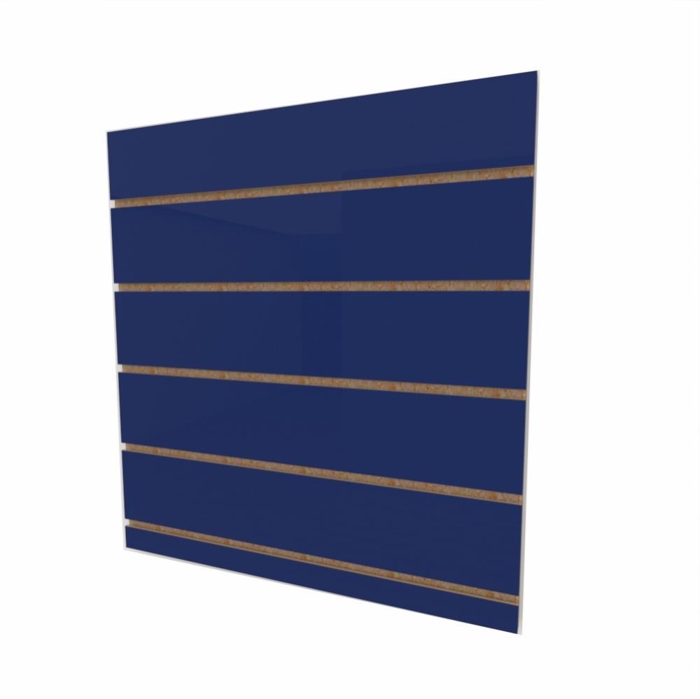 Expositor canaletado 18mm Azul Escuro Soft altura 60 cm comp 60 cm