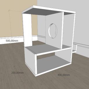 Mesa Lateral para sofá moderna com 3 niveis em mdf Preto