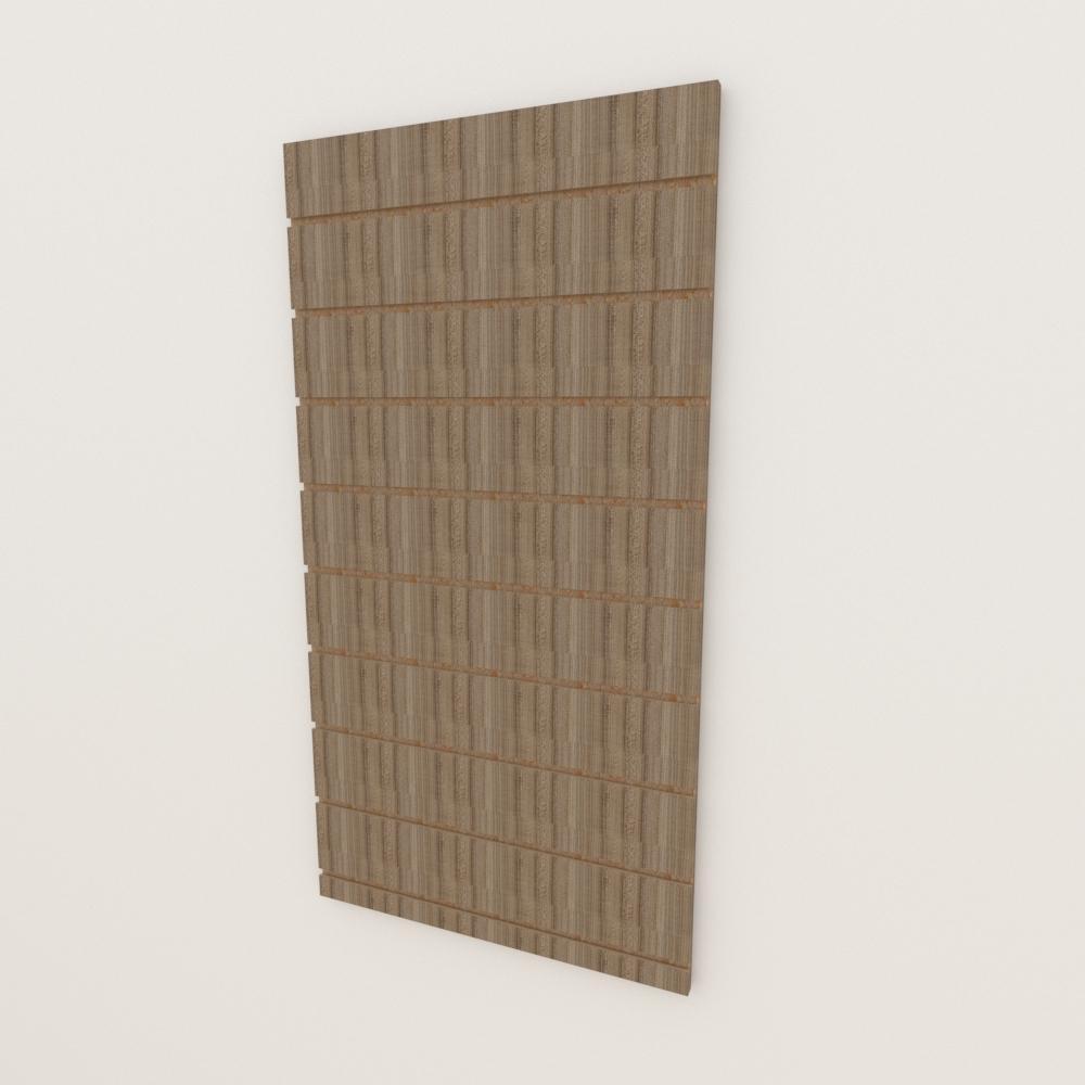Painel canaletado 18mm amadeirado escuro altura 120 cm comp 60 cm
