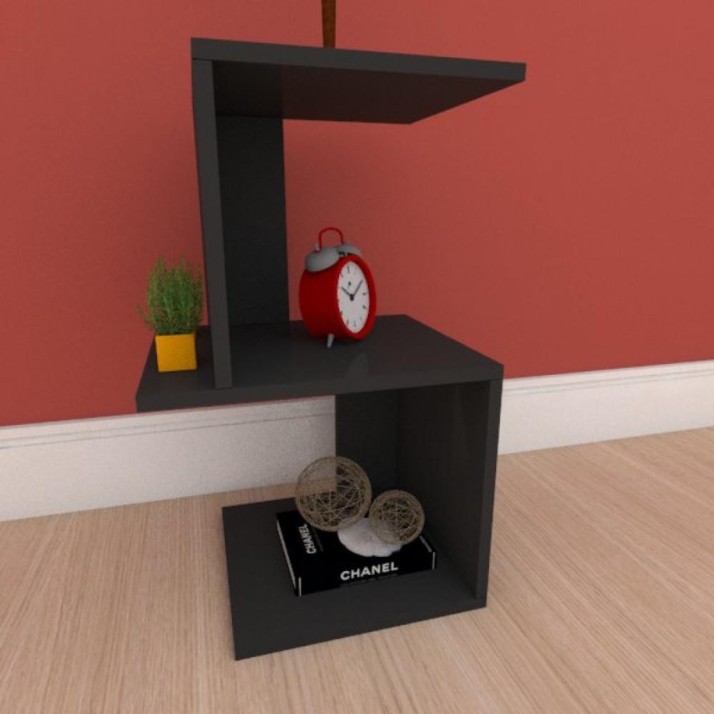 Mesa Lateral minimalista em mdf preto