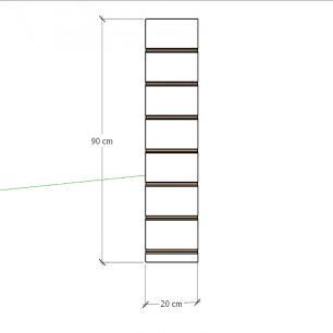 Painel canaletado para pilar cinza cristal 1 peça 20(L)x90(A) cm