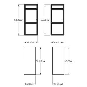 Prateleira industrial para escritório aço cor preto prateleiras 30 cm cor branca modelo ind08bes
