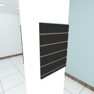 Kit 2 Painel canaletado para pilar preto 2 peças 50(L)x60(A)cm