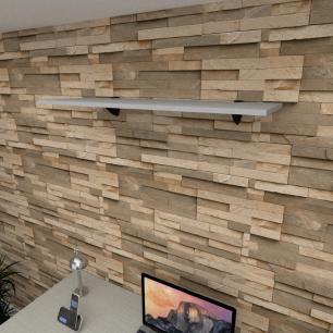 Prateleira para escritório MDF suporte tucano cor cinza 90(C)x30(P)cm modelo pratesc01