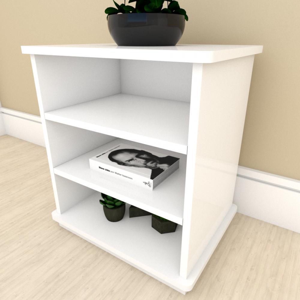Kit com 2 Mesa de cabeceira Branco