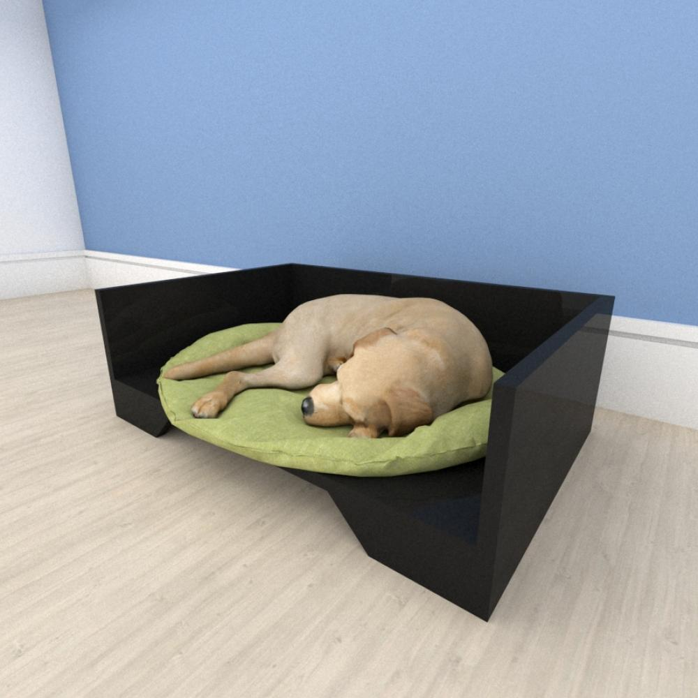 Mesa de cabeceira caminha casinha para cachorro em mdf Preto