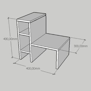 Mesa de cabeceira minimalista em mdf branco