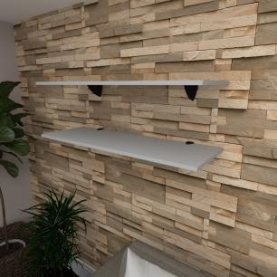 Kit 2 prateleiras para sala em MDF suporte tucano cinza 90x30cm modelo pratslc02
