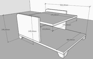 Mesa de centro moderna amadeirado claro com cinza