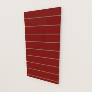 Painel canaletado 18mm Vermelho Escuro Tx altura 120 cm comp 60 cm