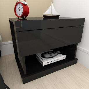 A01 Mesa de cabeceira moderna preto