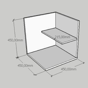 Mesa Lateral moderno minimalista em mdf cinza