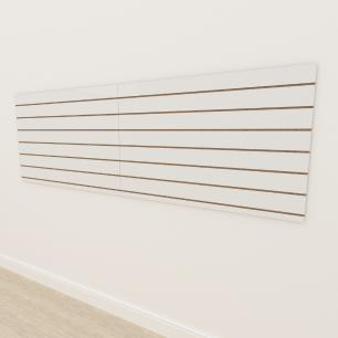 Painel canaletado 18mm Branco Texturizado altura 90 cm comp 270 cm