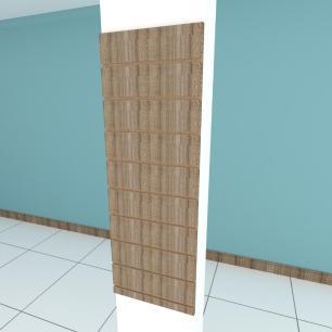 Painel canaletado para pilar amadeirado escuro 1 peça 40(L)x120(A)cm