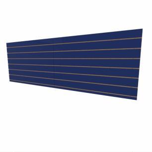 Expositor canaletado 18mm Azul Escuro Soft altura 90 cm comp 270 cm
