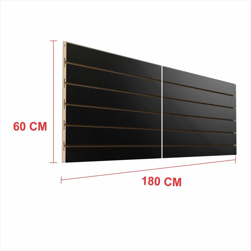 Painel canaletado 18mm preto altura 60 cm comp 180 cm