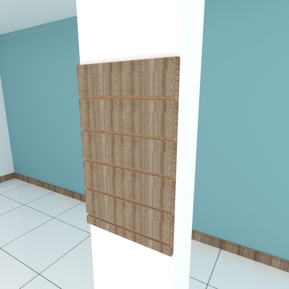 Painel canaletado para pilar amadeirado escuro 1 peça 40(L)x60(A)cm