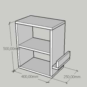 Kit com 2 Mesa de cabeceira slim com prateleira em mdf preto