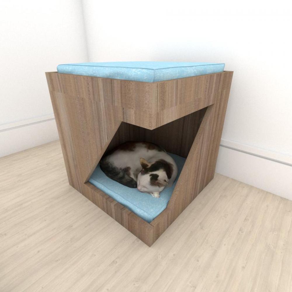 bercinho para Gato em mdf Amadeirado