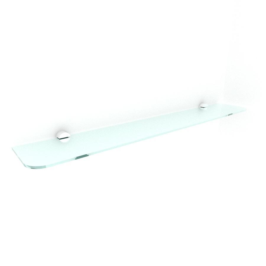 kit com 1 Prateleira de vidro temperado para escritorio 60(C)x8(P)cm