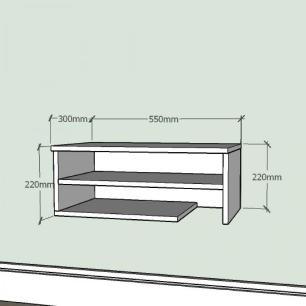 Mesa de Cabeceira simples com nichos prateleiras em mdf Branco