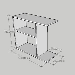 Mesa Lateral compacta em mdf amadeirado