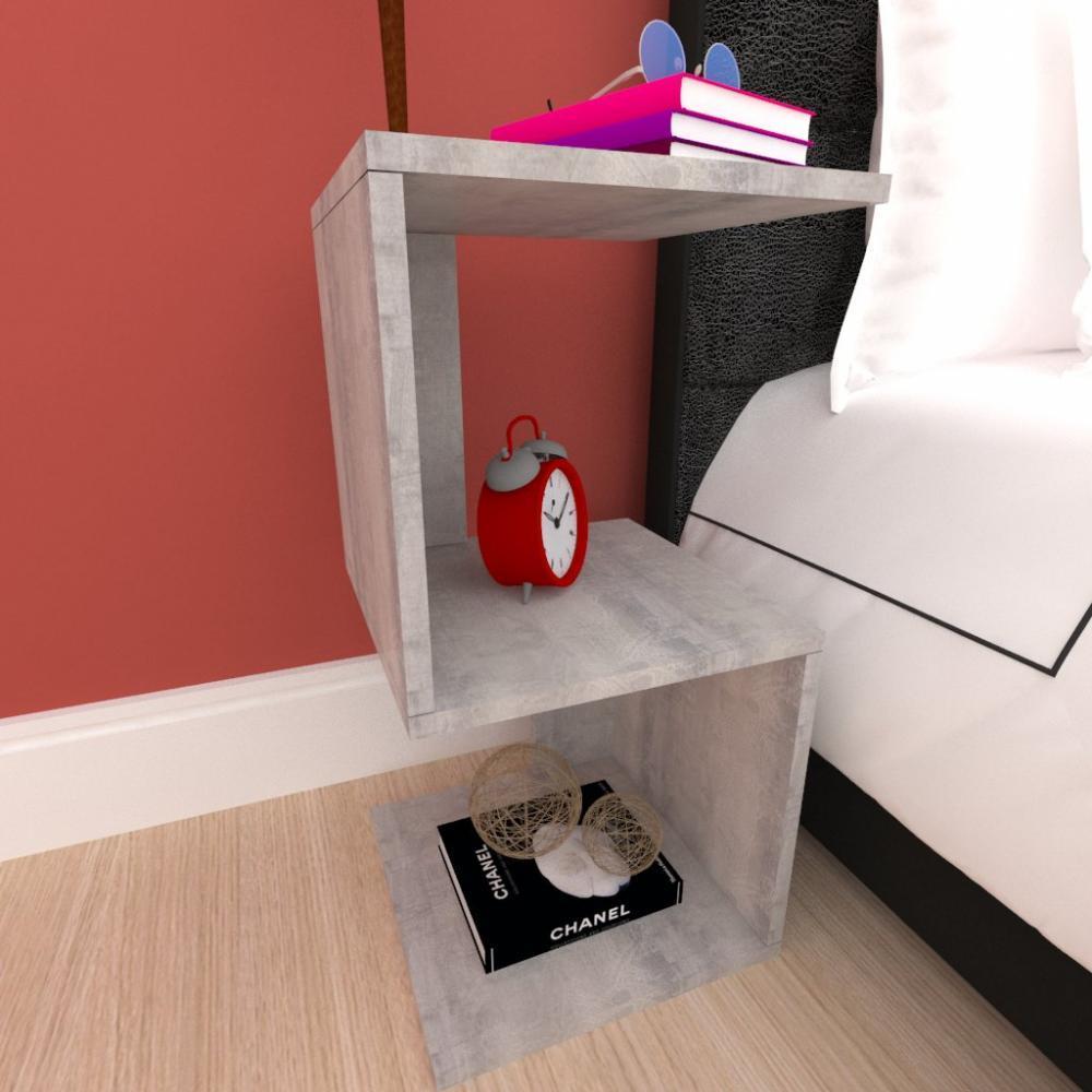 Mini estante para escritório moderna em mdf Rustico