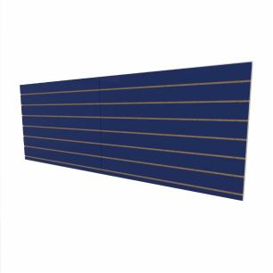 Expositor canaletado 18mm Azul Escuro Soft altura 90 cm comp 240 cm