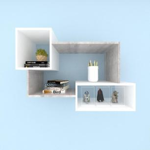 Kit de Nichos multi uso mdf Rustico com branco