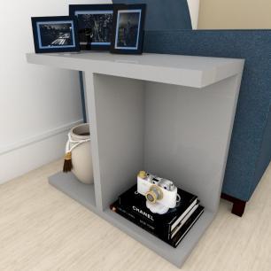 Mesa Lateral para sofá moderna Cinza