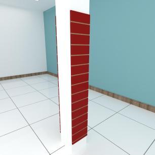 Kit 2 Painel canaletado para pilar vermelho escuro 2 peças 30(L)x180(A)cm