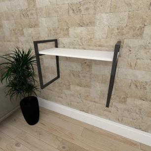 Mini estante industrial para escritório aço cor preto prateleiras 30cm cor branca modelo ind03bep