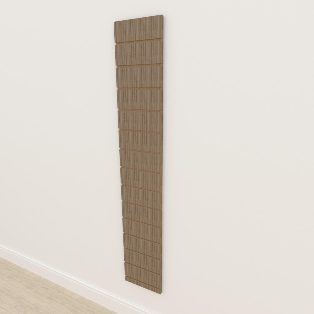 Painel canaletado 18mm amadeirado escuro altura 180 cm comp 30 cm