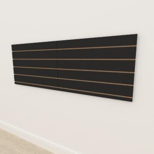 Painel canaletado 18mm Preto Texturizado altura 60 cm comp 180 cm